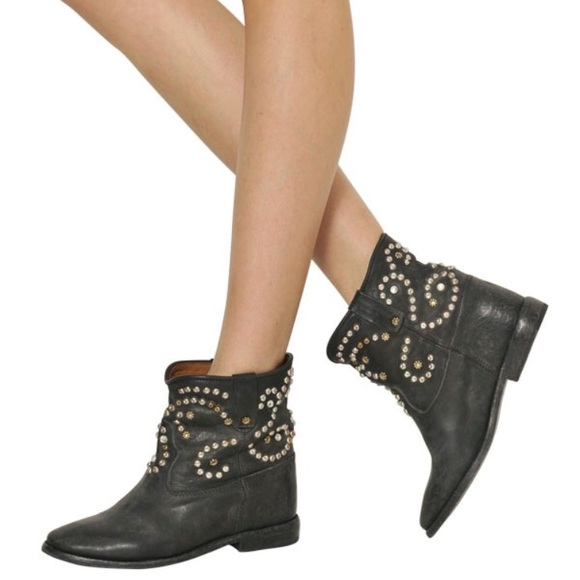 aa905d66d2 Isabel Marant Shoes - • Isabel Marant • Caleen Studded Black Ankle Boots